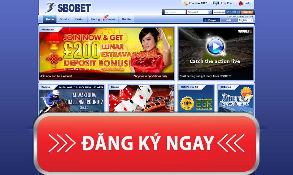 Đăng ký SBOBET - Link tạo tài khoản chính thức từ nhà cái